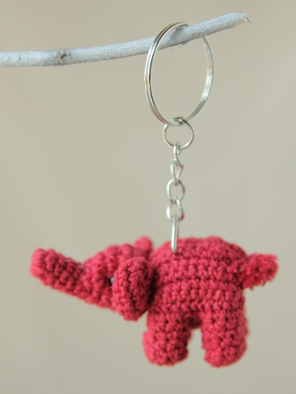 Crochet Chain : Home Elephant Gifts Crochet Elephant Key Chain